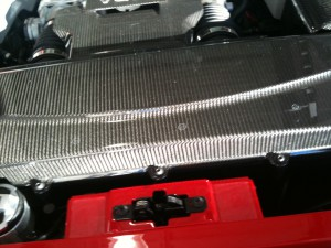 R8 Carbon Fibre engine surrounds